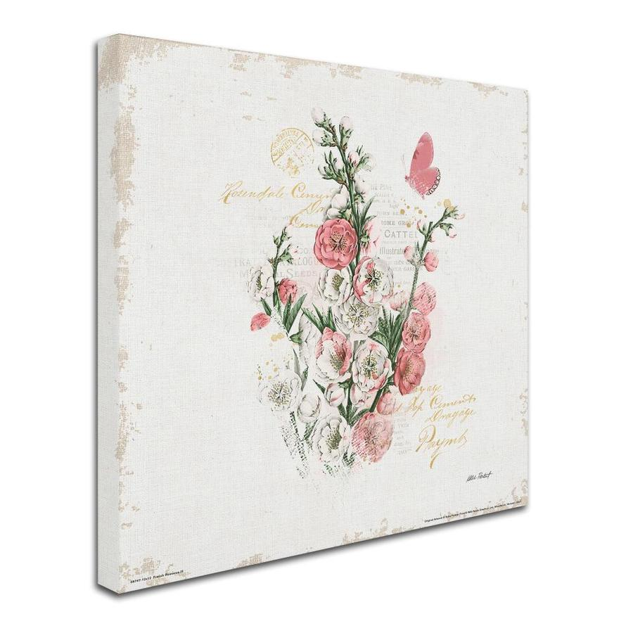 Trademark Fine Art Floral And Botanical Framed 35 In H X 35 In W Botanical Canvas Print In The Wall Art Department At Lowes Com