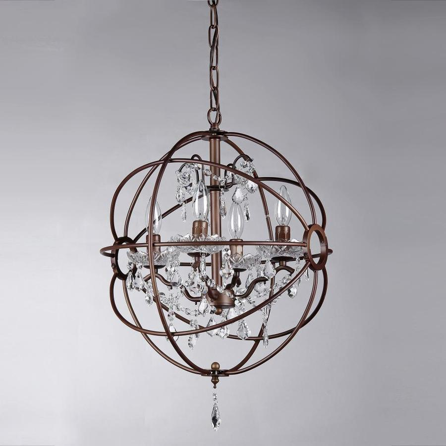 Home Accessories Inc 4 Light Brown Traditional Chandelier