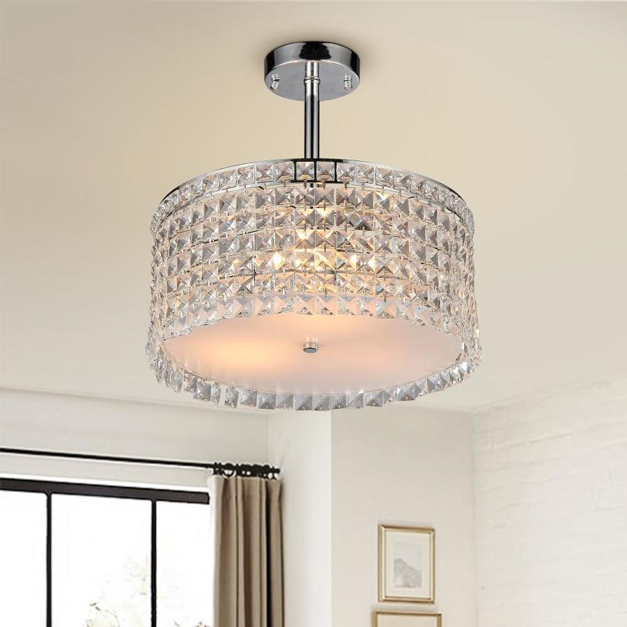 Home Accessories Inc 4 Light Silver Traditional Crystal Chandelier