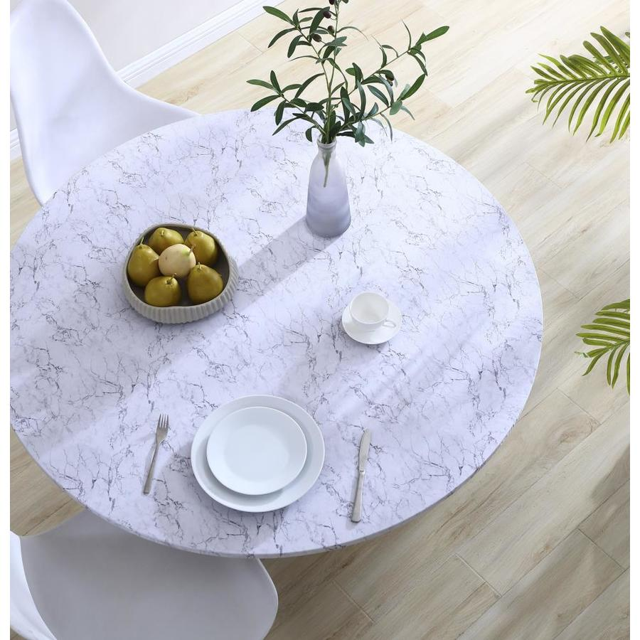 Brielle Home Fitted Table Cover Marble 42 In In The Table Covers Department At Lowes Com