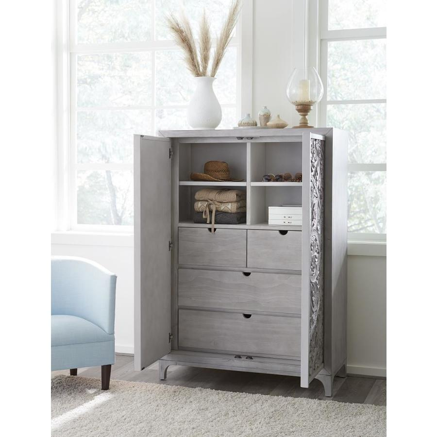 Modus Furniture Boho Chic Washed White Pine 4 Drawer Gentlemans Chest In The Chests Department At Lowes Com