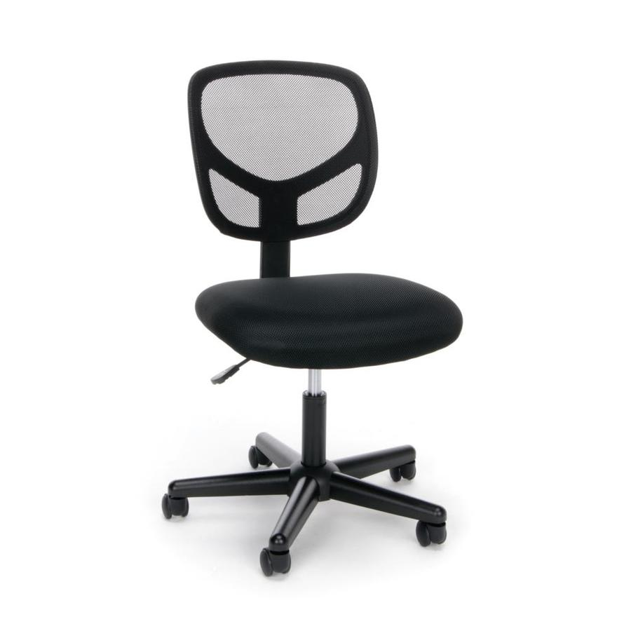 Essentials Collection Armless Mesh Back Office Chair Black - OFM