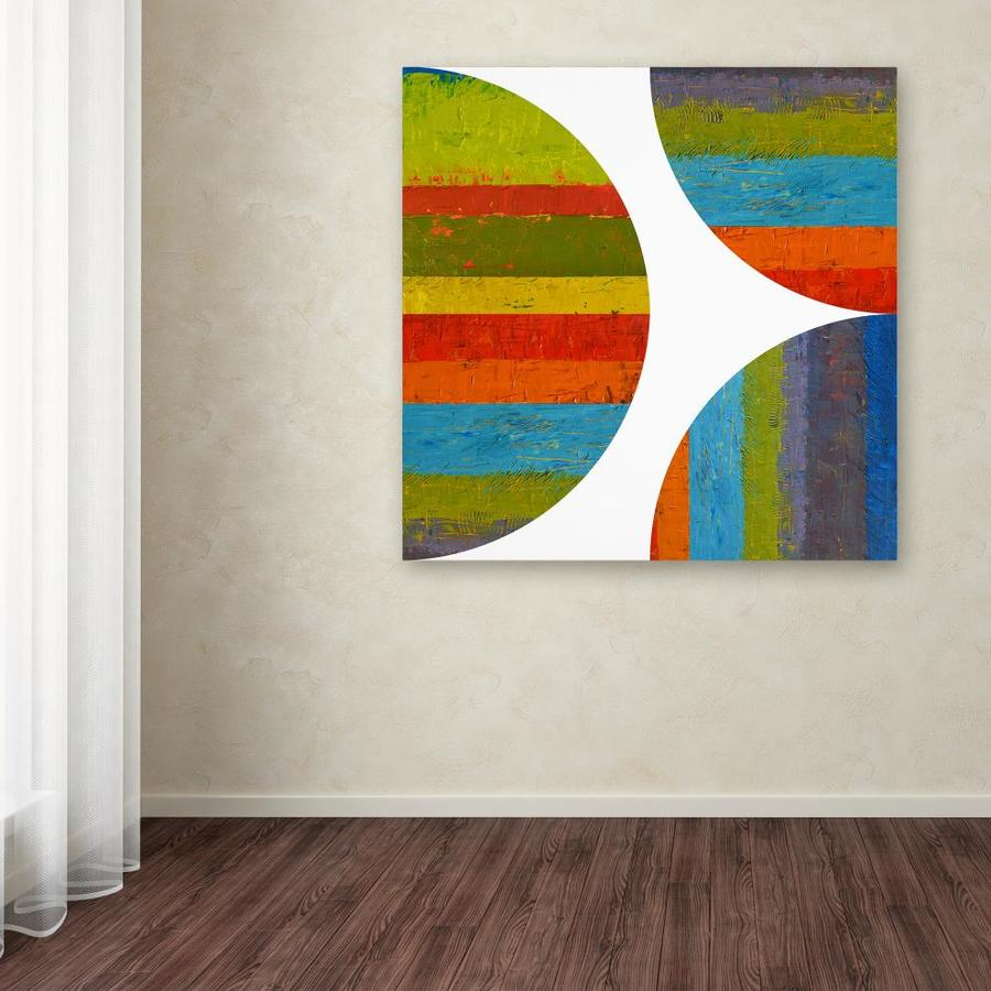 Trademark Fine Art Michelle Calkins Inhalf Circle And Quarter Rounds 2 0 In 35x35 Canvas Art In The Wall Art Department At Lowes Com
