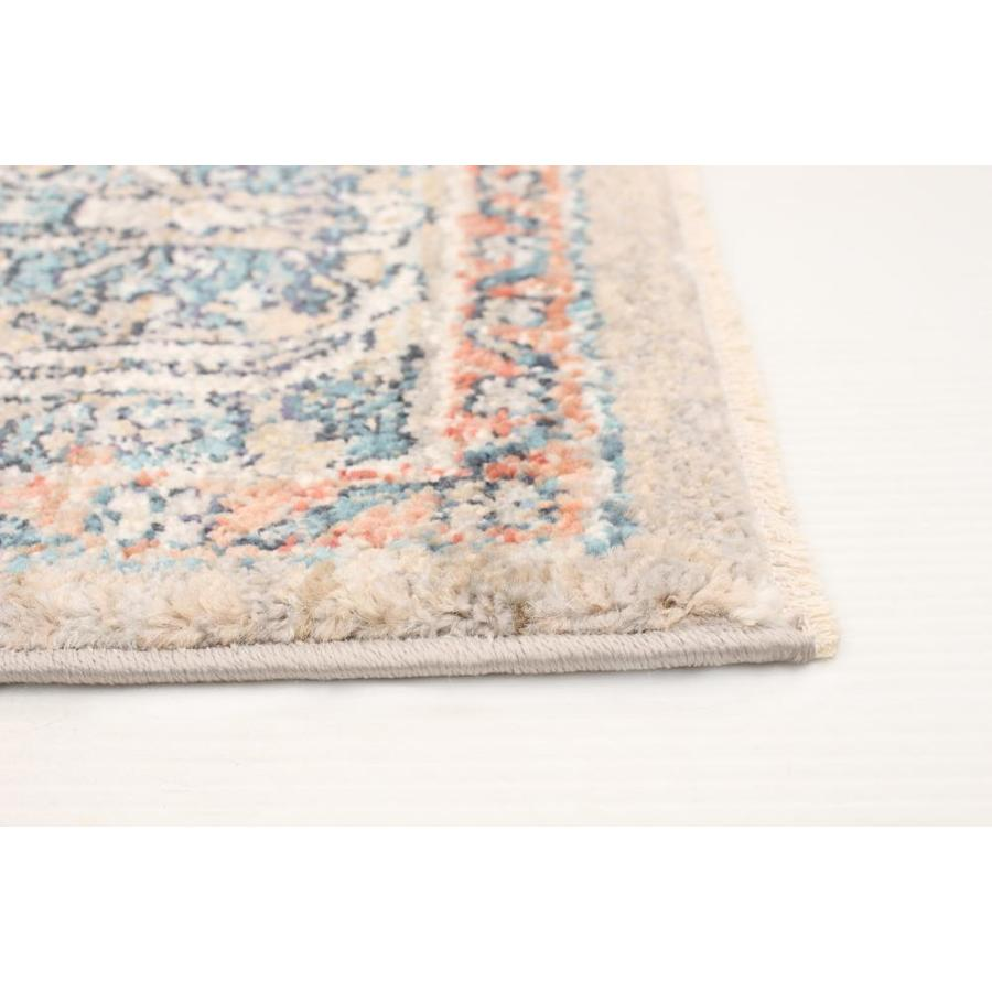 Ecarpetgallery Bolivia Yalameh 5 X 8 Blue Grey Distressed Overdyed Bohemian Eclectic Area Rug In The Rugs Department At Lowes Com