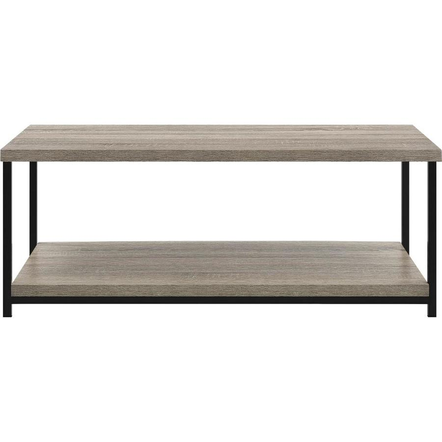 Ameriwood Home Elmwood Distressed Gray Oak Coffee Table In The Coffee Tables Department At Lowes Com