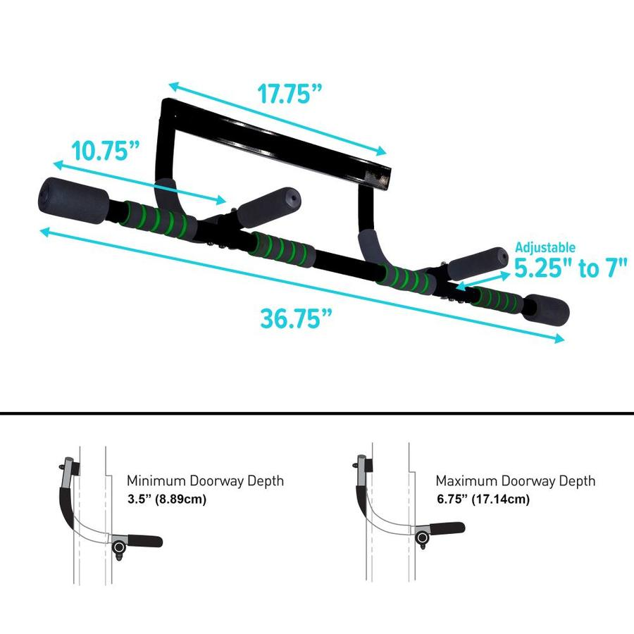 Pure Fitness Pure Fitness Adjustable Multi Purpose Doorway Pull Up Bar In The Pull Up Push Up Bars Department At Lowes Com