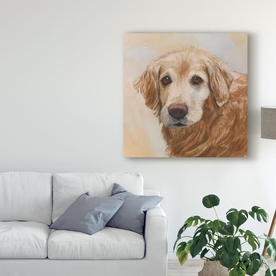 Trademark Fine Art Animals Framed 14 In H X 14 In W Animals Print On Canvas In The Wall Art Department At Lowes Com