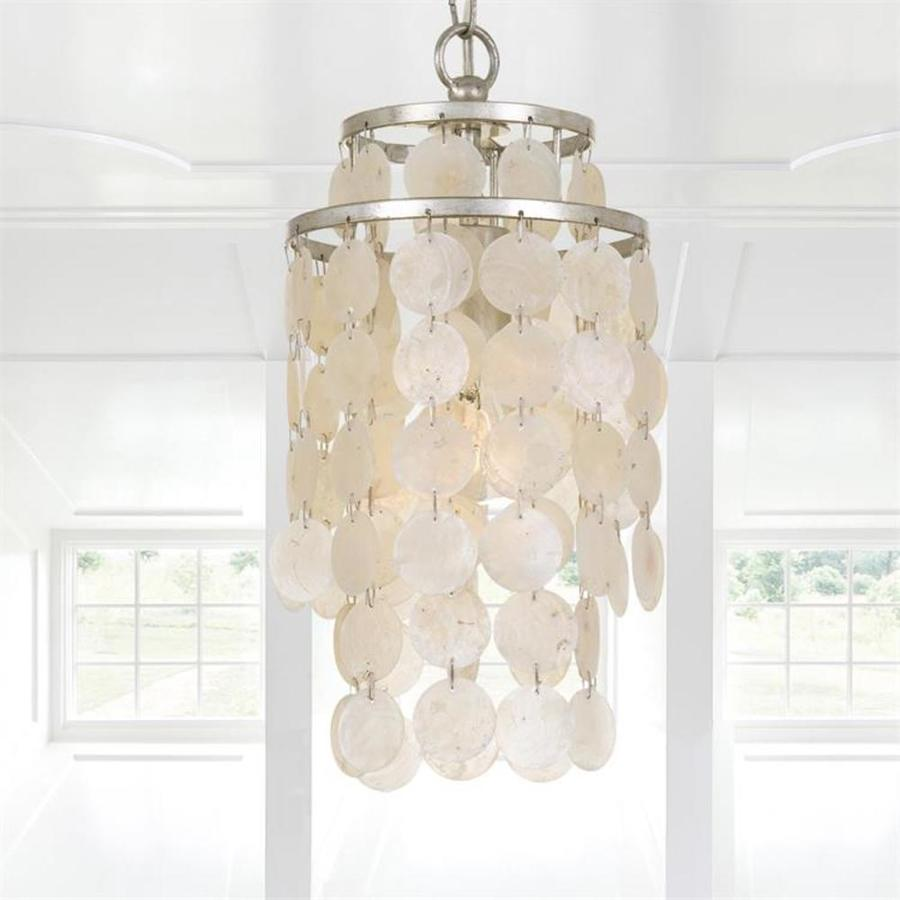 Crystorama Brielle 1 Light Antique Silver Transitional Chandelier In The Chandeliers Department At Lowes Com