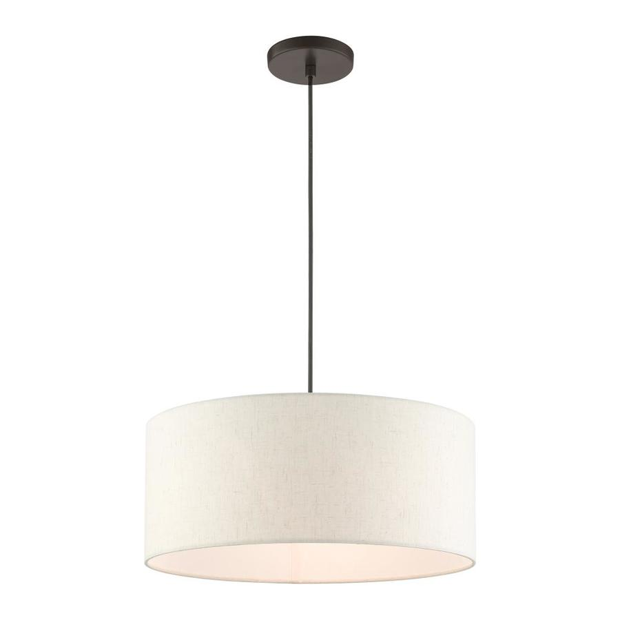 Livex Lighting Meadow English Bronze Transitional Drum Pendant Light In The Pendant Lighting Department At Lowes Com