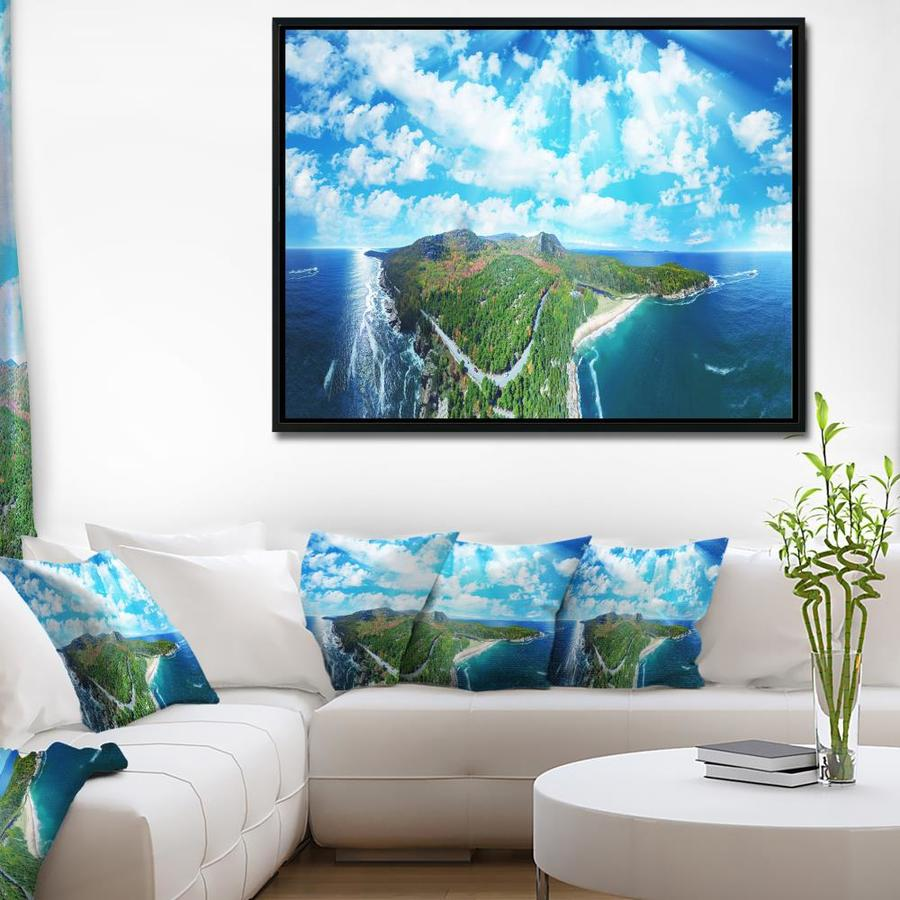 Designart Panoramic Acadia National Park Landscape Photography Framed Canvas Print In The Wall Art Department At Lowes Com