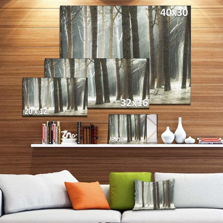Designart Maritime Pine Tree Forest With Rays Oversized Forest Canvas Art In The Wall Art Department At Lowes Com