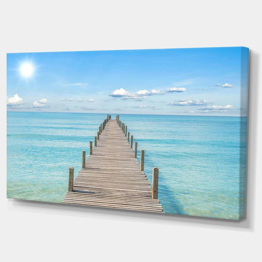 Designart Pier Infinite To The Sea Seascape Canvas Art Print In The Wall Art Department At Lowes Com