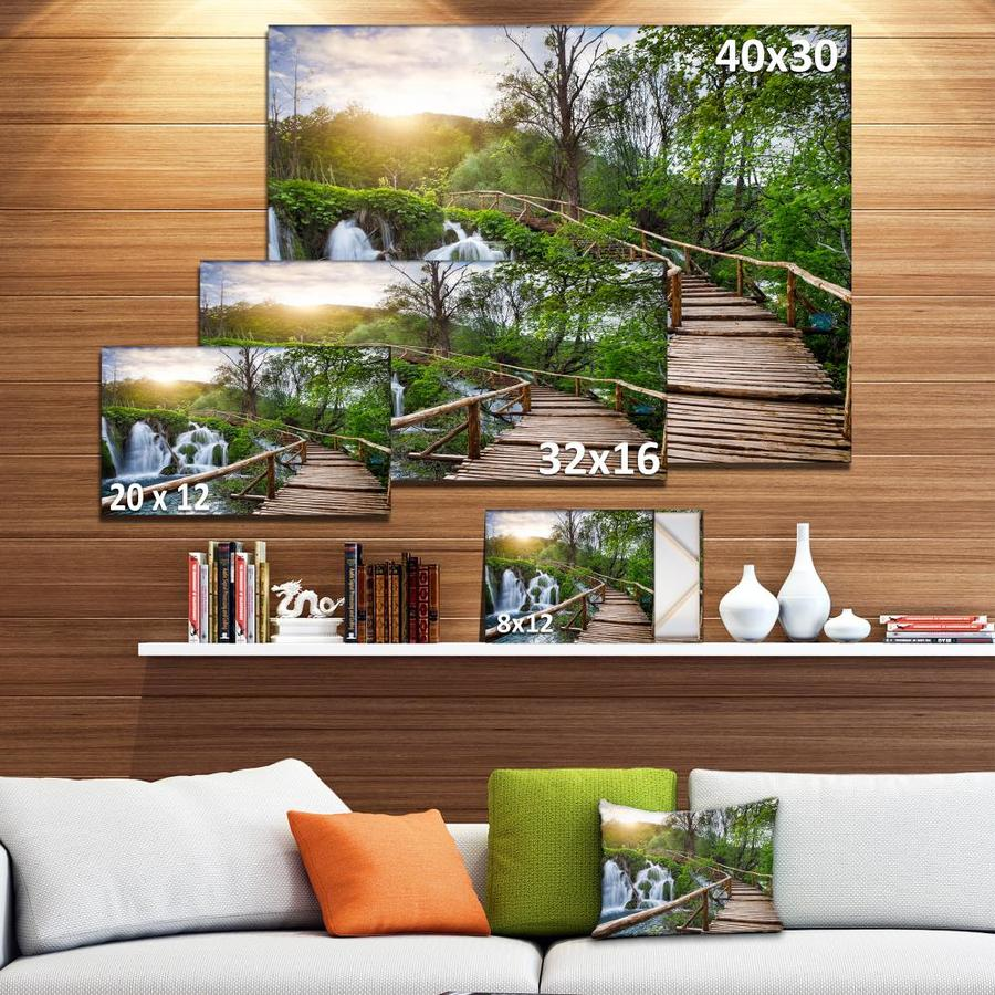 Designart Pathway In Plitvice Lakes Landscape Photography Canvas Art Print In The Wall Art Department At Lowes Com