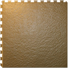 ITtile Slate Beige 20 In. x 20 In. Vinyl Tile, Residential & Commercial Hidden Interlock Multi-Purpose Floor, 6 Tile HS540B