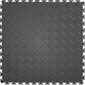 IT-tile Diamond Plate 20-1/2 in. x 20-1/2 in. Dark Gray Vinyl Interlocking Multipurpose Flooring Tiles (23.25 sq. ft./case) 540DG4