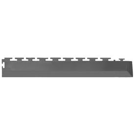 IT-tile Interlocking Tile: Coin 2-1/2 in. x 23 in. Dark Gray Vinyl Tapered Interlocking Flooring Corners (7 sq. ft./case) 540DGC45