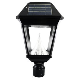 GAMA Imperial-2 19-In H Black Solar Led Post Light Gs-97Nf