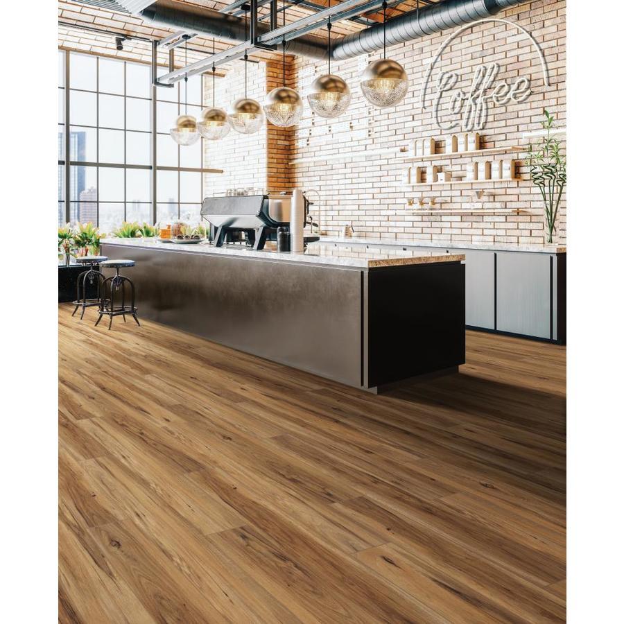 SMARTCORE Pro 5-Piece 5.5-in x 5.5-in Toasted Eucalyptus Luxury Vinyl  Plank Flooring