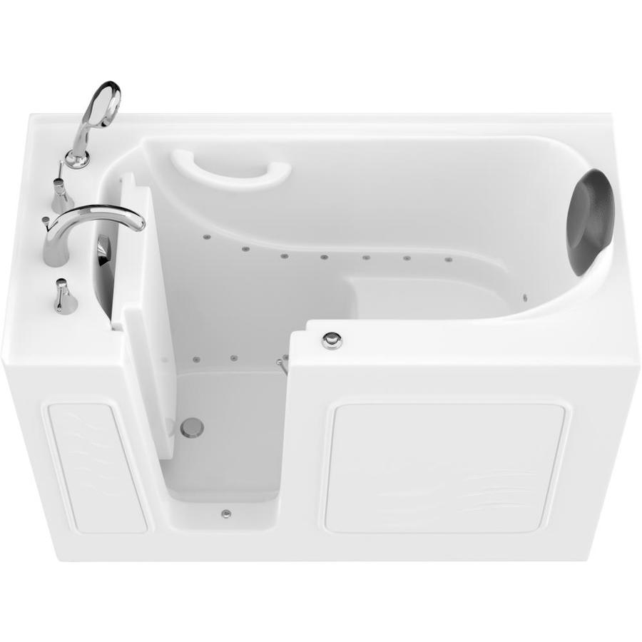 Endurance Safe Palace 26.375-In W X 53-In L White Gelcoat/Fiberglass Rectangular Left-Hand Drain Walk-In Air Bath And Fa