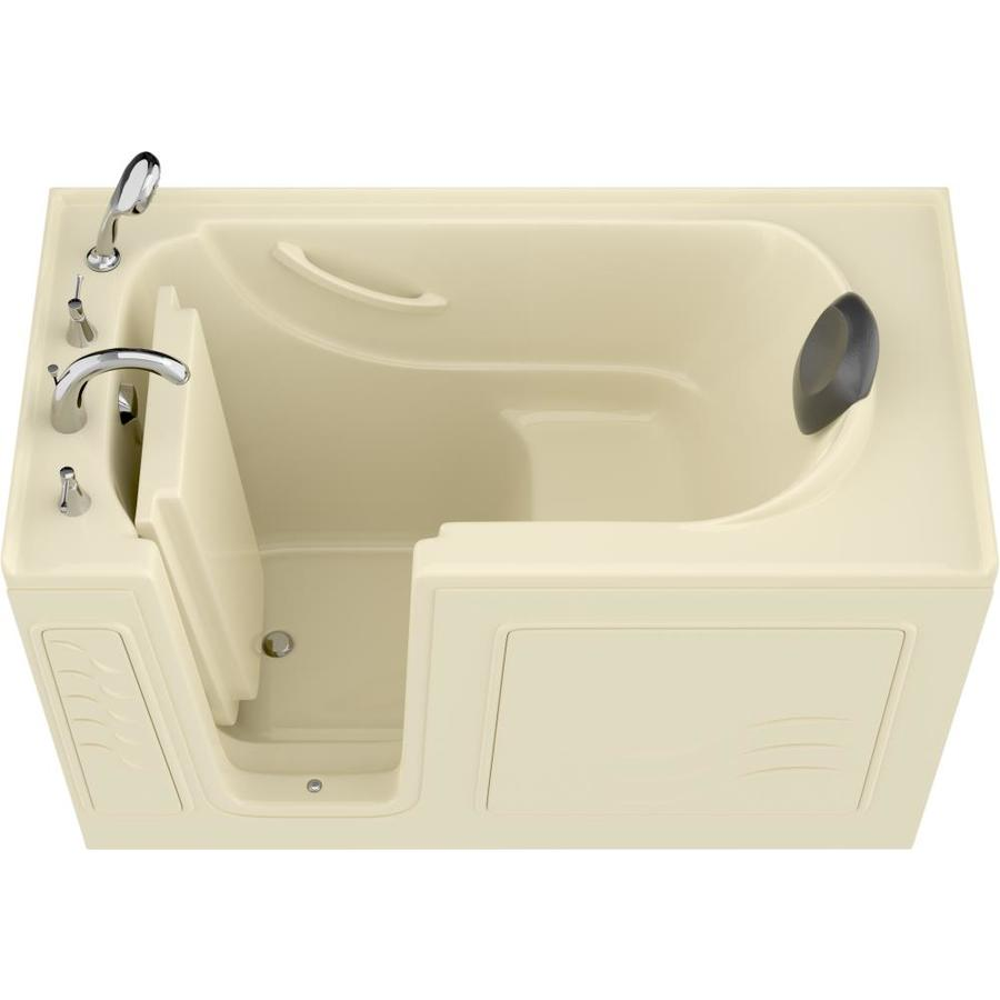 Endurance Safe Palace 30-In W X 59-In L Biscuit Gelcoat/Fiberglass Rectangular Left-Hand Drain Walk-In Bathtub And Fauce
