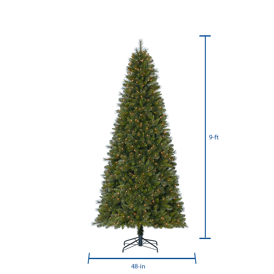 Holiday Living 9 Ft Robinson Fir Pre Lit Traditional Artificial Christmas Tree With 700 Constant White Clear Incandescent Lights In The Artificial Christmas Trees Department At Lowes Com A proud member of the. lowe s