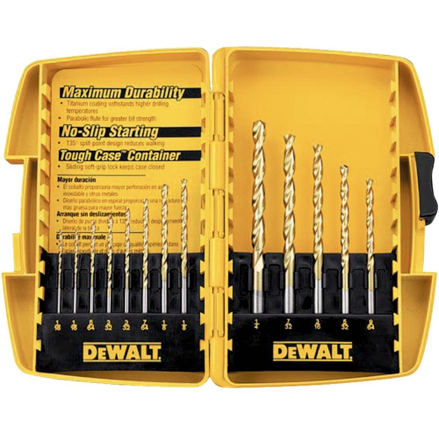 DEWALT Assorted Titanium Coated HSS Twist Drill Bit Set | 886053