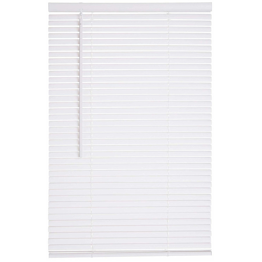 Lotus & Windoware Cordless Mini Blind 0.97-in Cordless White Vinyl Light Filtering Mini Blinds 47-in 461447