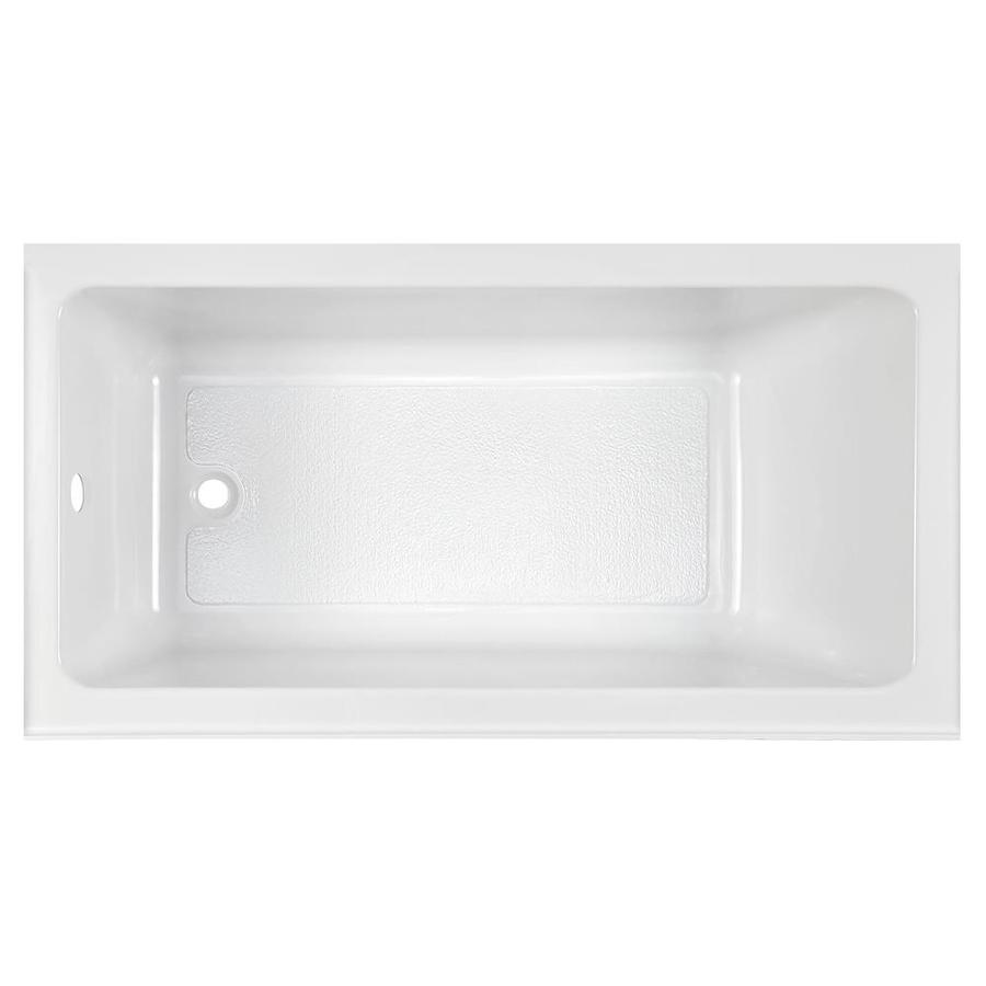 American Standard Studio 32 In W X 60 In L White Acrylic Rectangular Left Hand Drain Alcove Bathtub In The Bathtubs Department At Lowes Com