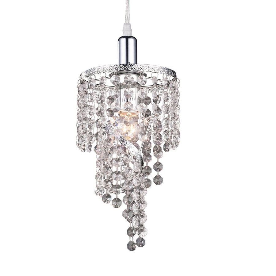 Shop Z Lite Petite Chandeliers 6 In W Chrome Crystal Mini