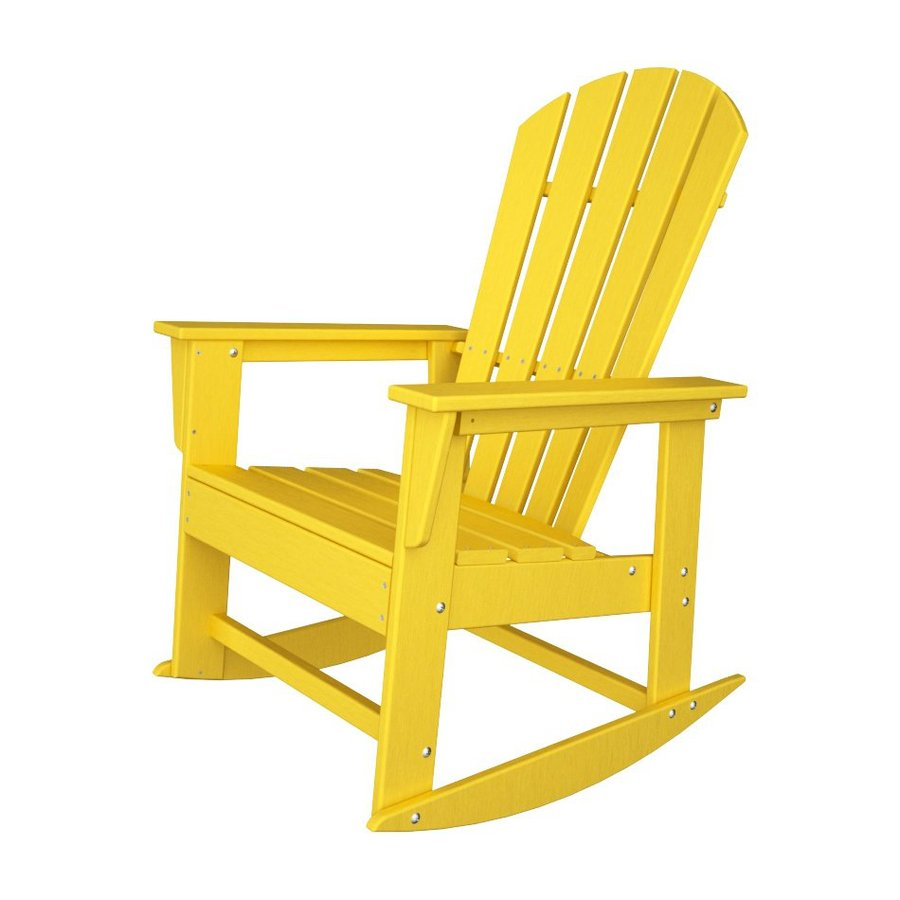 Shop POLYWOOD South Beach Lemon Recycled Plastic Rocking ...