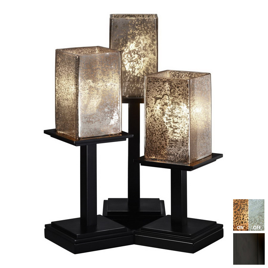 shop cascadia lighting 3 way switch matte black touch indoor table lamp with glass shade at. Black Bedroom Furniture Sets. Home Design Ideas