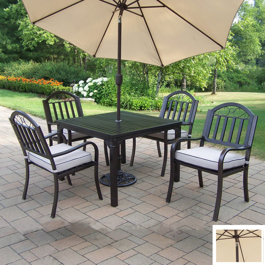 Shop Oakland Living 5-Piece Cushioned Wrought Iron Patio
