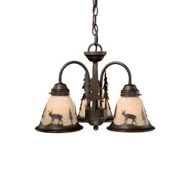 Cascadia Bryce 16-In 3-Light Burnished Bronze Rustic Tint...