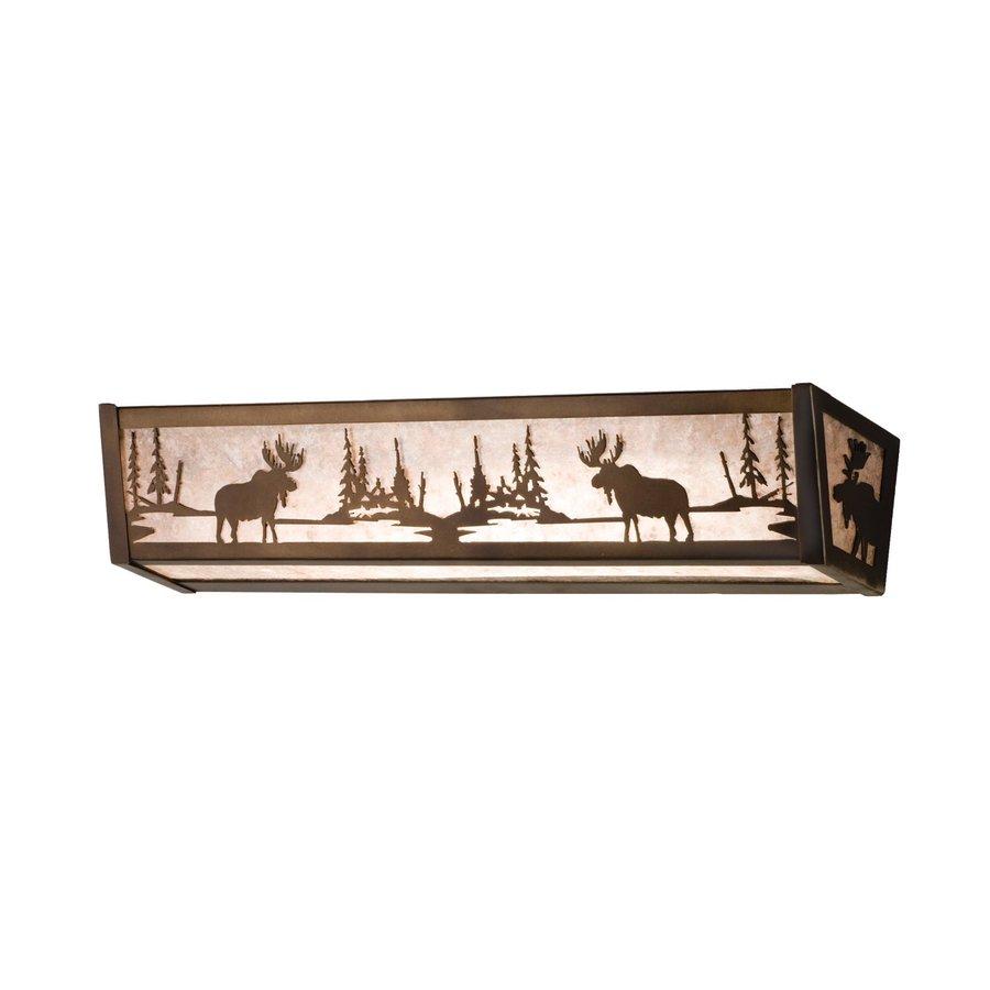 Tiffany Bathroom Lighting: Shop Meyda Tiffany Moose At Lake Antique Copper Bathroom