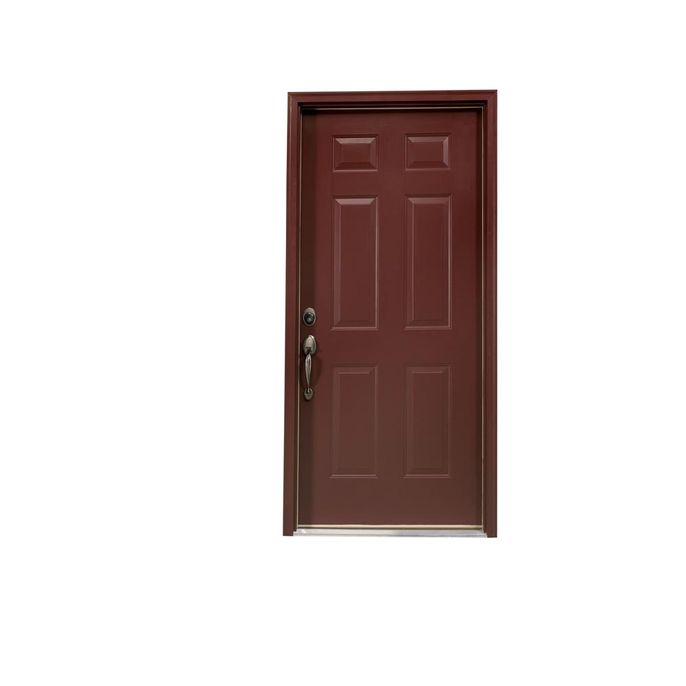 Enjoyable Shop Reliabilt 6 Panel Outswing Steel Entry Door At Lowes Com Door Handles Collection Olytizonderlifede