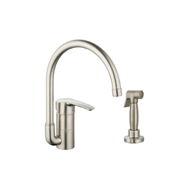 Grohe eurostyle brushed nickel 1 handle high arc kitchen - Mico designs seashore kitchen faucet ...