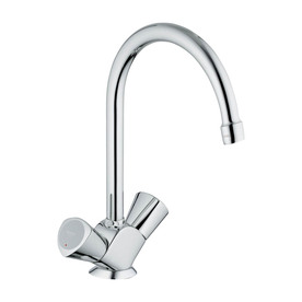 Grohe classic ll starlight chrome 2 handle high arc - Mico designs seashore kitchen faucet ...