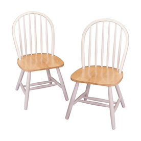 Winsome Wood Set of 2 White Side Chairs 53999