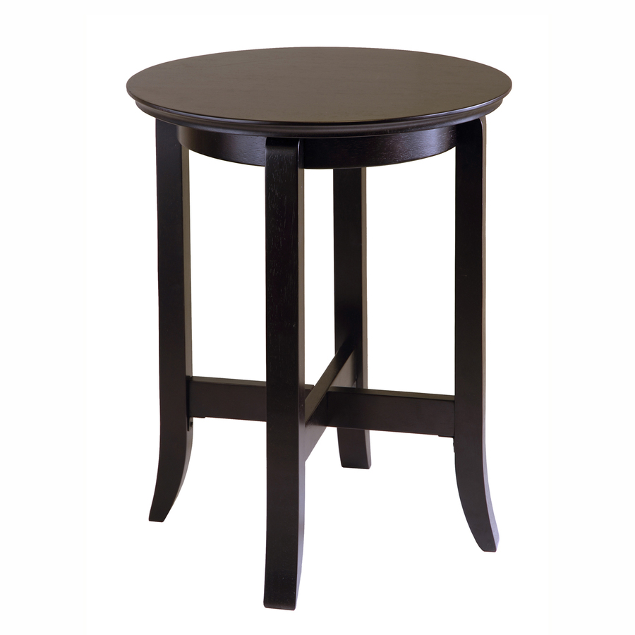 shop winsome wood dark espresso round end table at. Black Bedroom Furniture Sets. Home Design Ideas