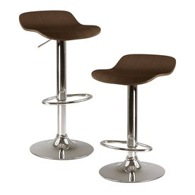 Winsome Wood Set of 2 Cappuccino 30.8-in Adjustable Stools 93489