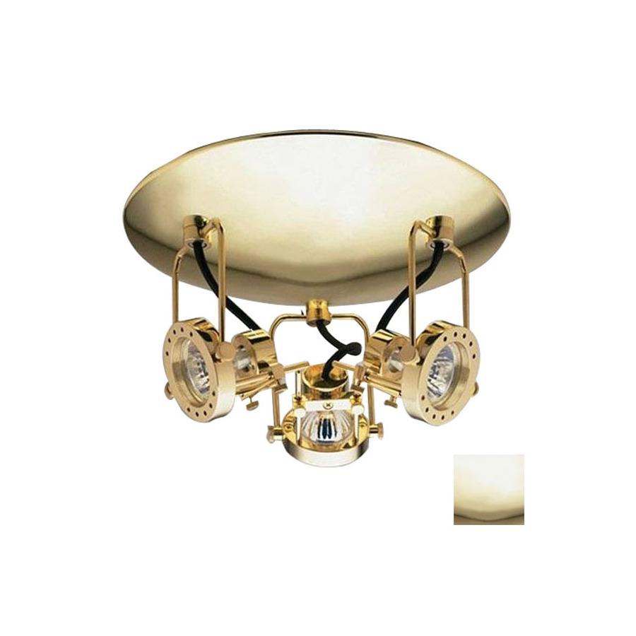 Illuma Flex Track Lighting Installed In A Kitchen From: Shop PLC Lighting 3-Light Polished Brass Flush Mount Fixed