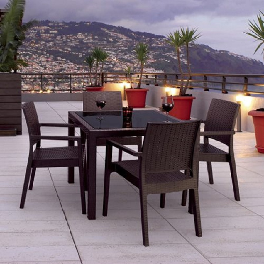 Patio Tables Dining: Shop Compamia 5-Piece Resin Patio Dining Set At Lowes.com