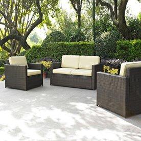 Shop Crosley Furniture Palm Harbor 3 Piece Wicker Patio