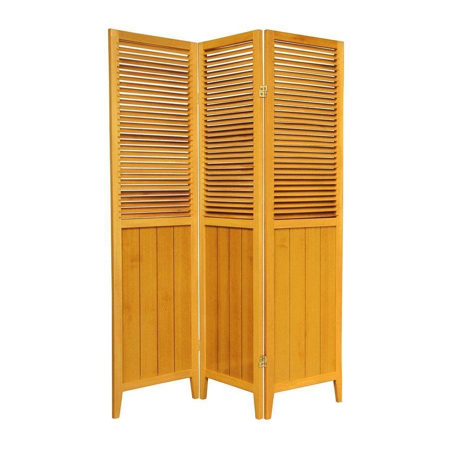 Shop Oriental Furniture Room Dividers 3-Panel Honey ...