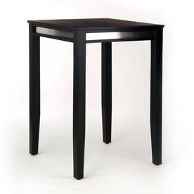 Home Styles Manhattan Pub Table - Stainless Steel - Black