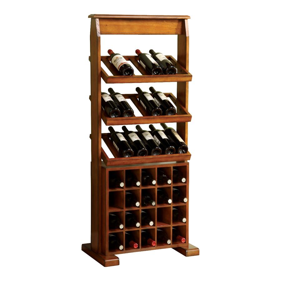 Shop Furniture Of America Guarda 38 Bottle Antique Oak