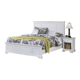 Home Styles Naples Queen Bed and Night Stand - White