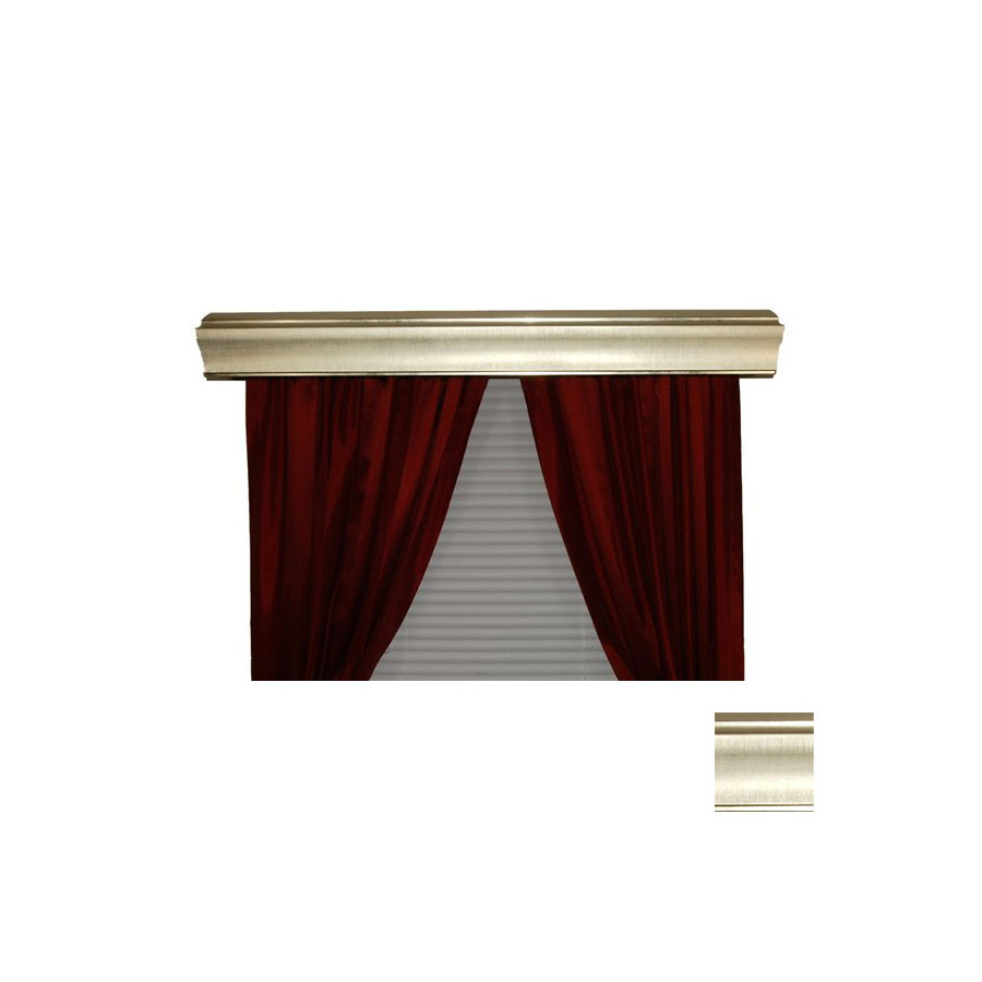 Shop Bcl Drapery Sargento Silver Metal Cornice At Lowes Com