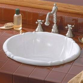 Shop Cheviot White Drop In Oval Bathroom Sink At Lowes Com