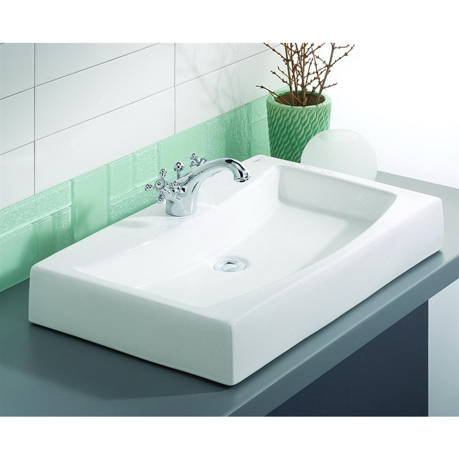 shop cheviot mediterranean white above counter rectangular bathroom sink at. Black Bedroom Furniture Sets. Home Design Ideas